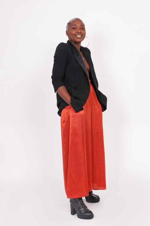 jupe longue orange-marron Jaya-shop