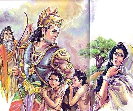 Scene -6 Rama leaves Seetha with Twins