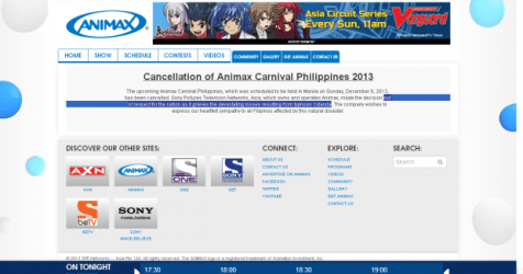 #AnimaxCarnivalPH2013 Cancelled: Feels (Very) bad, man; but it can't be helped.