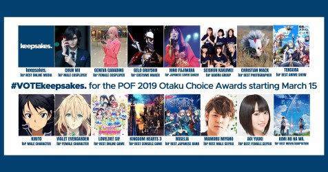 #VOTEkeepsakes in the Pinoy Otaku Festival 2019 Otaku Choice Awards!