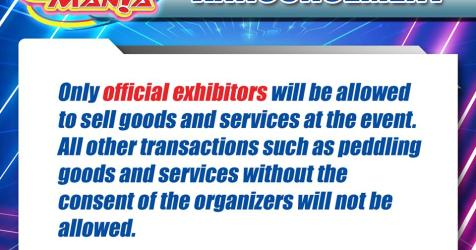 Cosplay Mania 2019 officially prohibits non-exhibitor selling