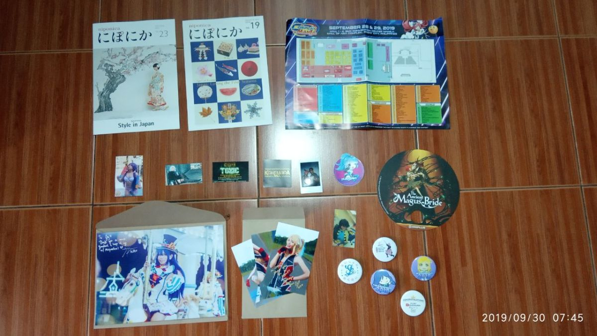 Aftermath: My Cosplay Mania 2019 loot.