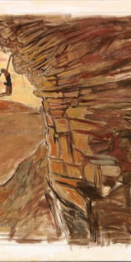 At Arm's Length - Rock Climbing Art by Jay Alders