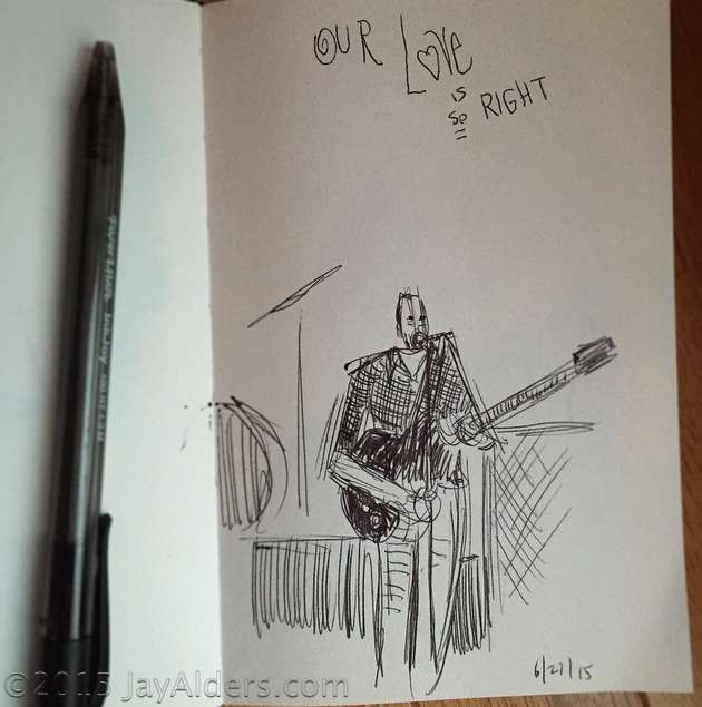 Sketches from the Dave Matthews Band Show 6-27-2015