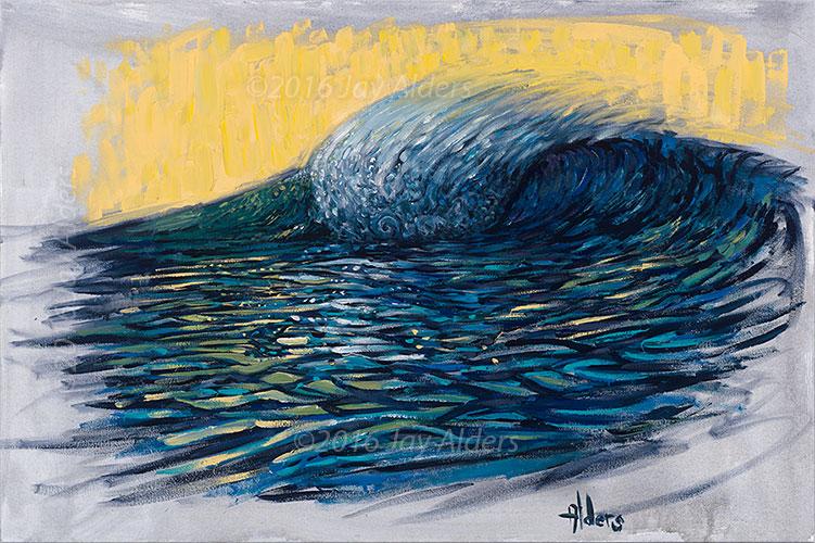Local Glow - surfing wave ocean art by Jay Alders