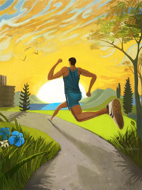 run free- running art by jay alders