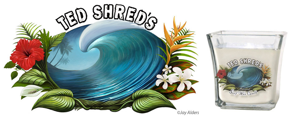 Ted Shreds Surf Wax Scented all natural candle