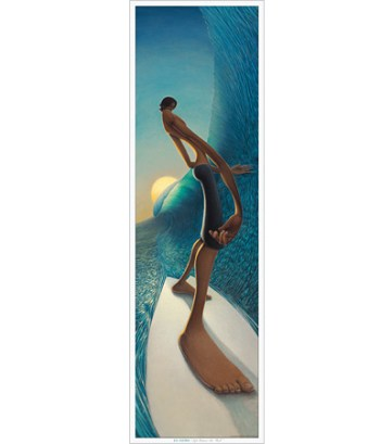 Left Behind the Wall modern surf art poster