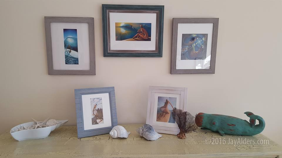 matted prints of Jay Alders - Surf and coastal inspired artwork - Framed artwork