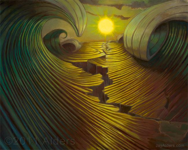 Shifting Perception - Tsunami inspired art