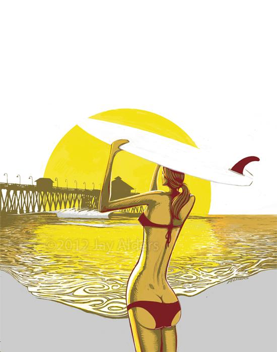 Endless Summer Beauty - Surfer girl