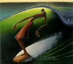Solitube surfer hang ten art