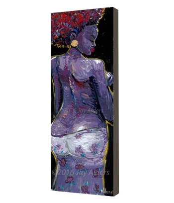 Bola -figurative african woman live painting