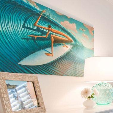 trippy surf art