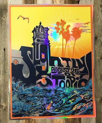 Slightly Stoopid Foil Poster for Del Mar Aug 26 2017 by Jay Alders