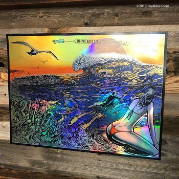 311 Foil Surf Art Poster Holmdel NJ 8-22-18 Alders
