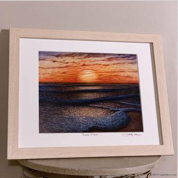 Ocean surf art framed print by Jay Alders