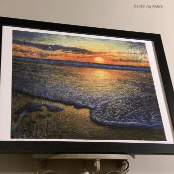 sea quell - surf art framed print