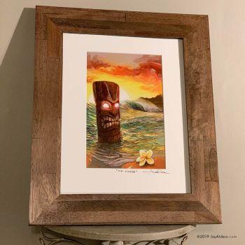 Tiki Beach Sunrise Art Print in Frame by Jay Alders