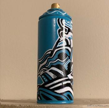 custom painted spray can