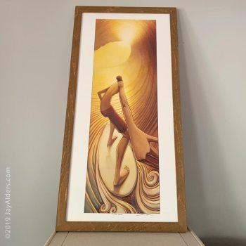 pot of gold - elongated surfer modern art print by jay alders