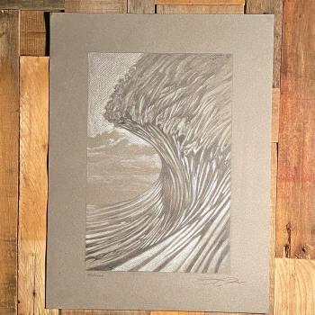 big ocean wave drawing 5-21-20 by Jay Alders
