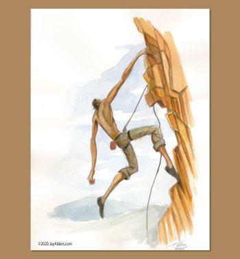 To The Top - Rock Climbing Artwork