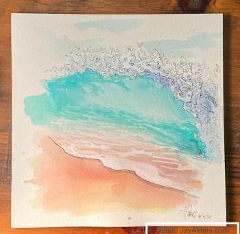 modrn ocean beach painting