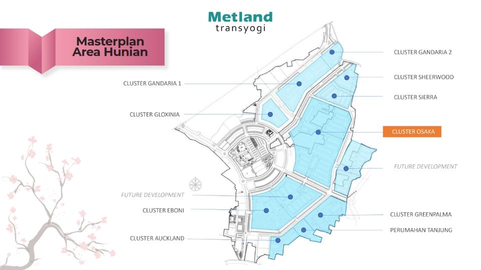 Masterplan Cluster Osaka Metland Transyogi Cileungsi