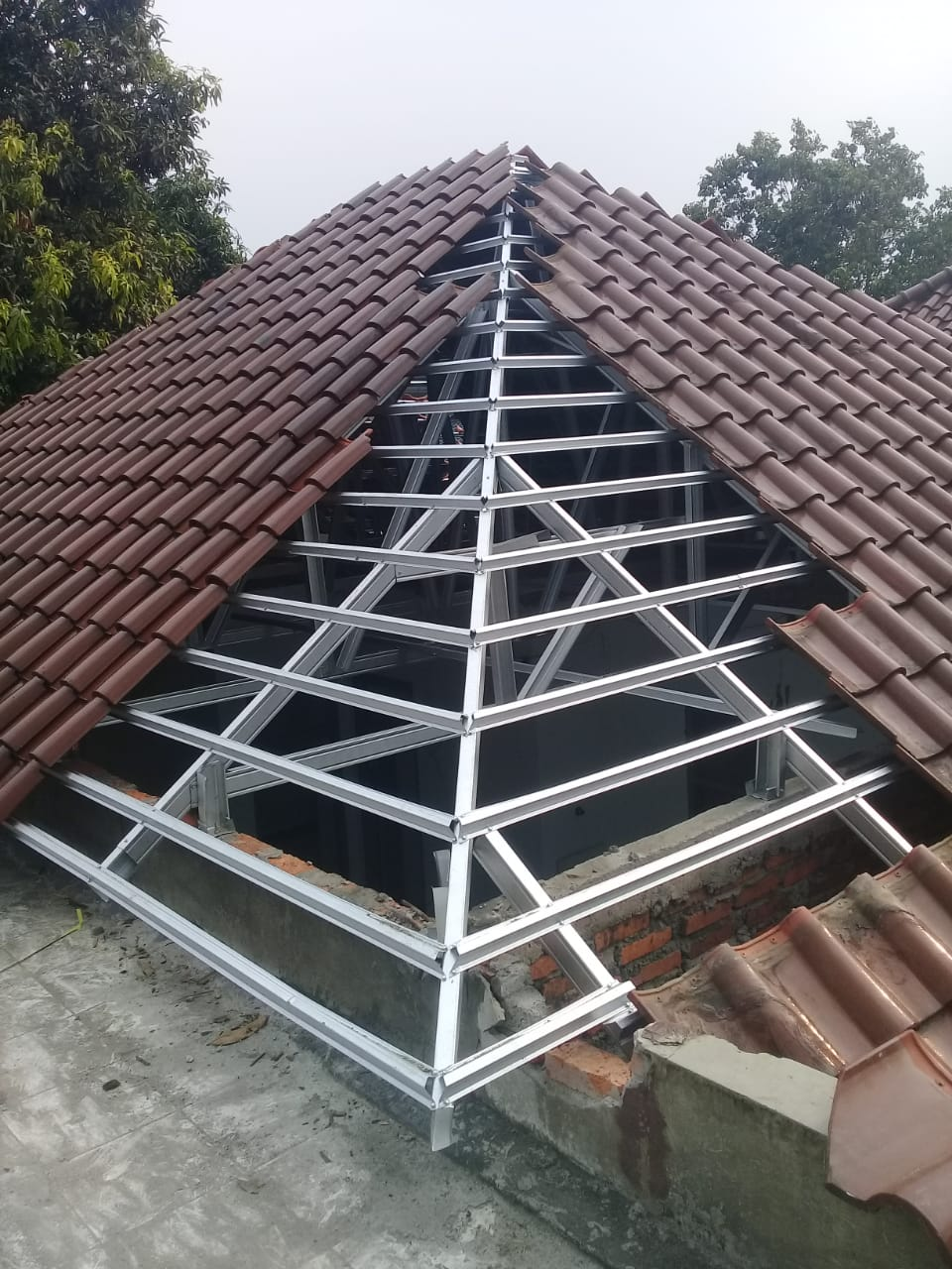 kanopi baja ringan bekas biaya tak terduga bongkar pasang atap menjadi jayawan