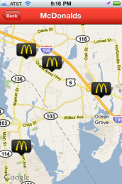 McDonalds location close to the user.