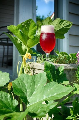 """Hibiscus NEIPA next to our """"wild"""" pumpkin patch."""