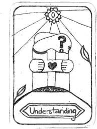 "Understanding, by Sophia Mühling Inspired by 'The Fool' ""The essence of loving and learning is to understand each other worldwide."""