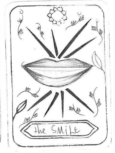 "The Smile, by Valentina Burtrago G. Inspired by 'Judgment' ""The smile gives you the confidence and the support you need to start or continue your projects. Shows you that there is never a bad decision in life. """