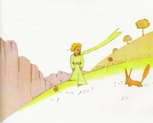 The Little Prince and the Fox (Illustration by Antoine de Saint-Exupéry)