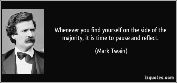 Mark Twain Quote Majority