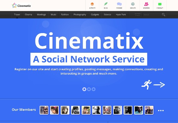 Cinematix-BuddyPress-bbPRess-Theme