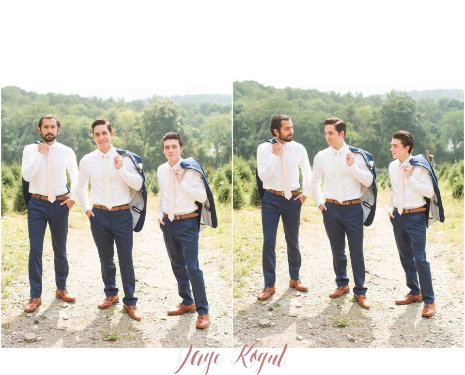NY wedding photography, blue groomsmen suits