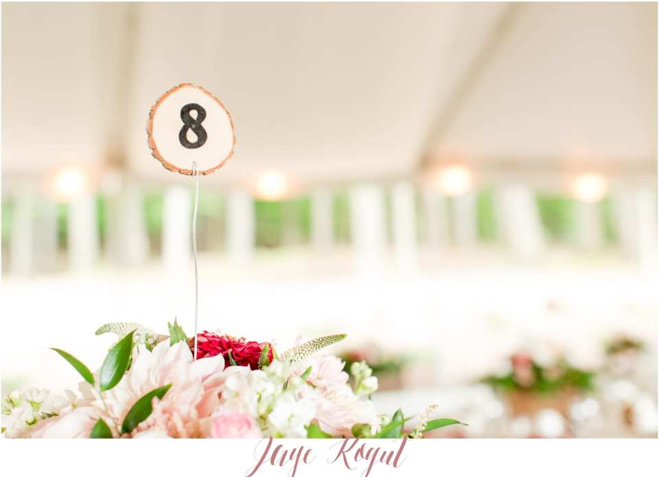 rustic table number ideas