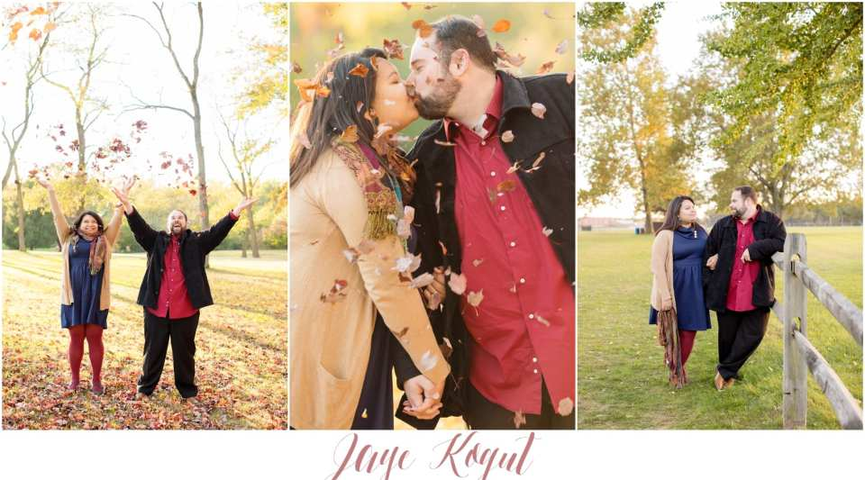 fun engagement photo ideas, fall engagement photos