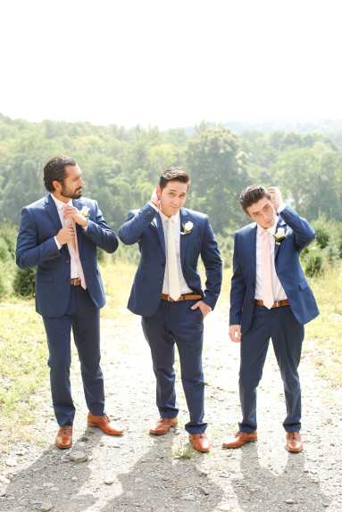 emmerich tree farm weddings, rustic new york wedding venues, navy and pink grooms outfits, grooms outfit ideas
