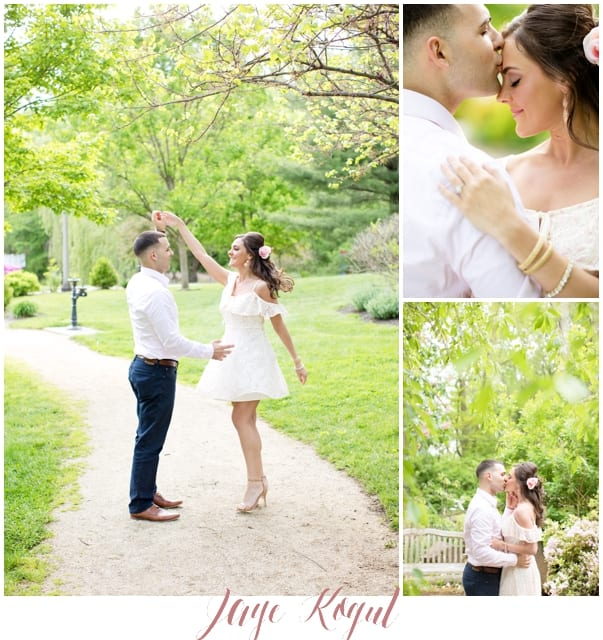 Sayen Garden Engagement Photos, New Jersey engagements