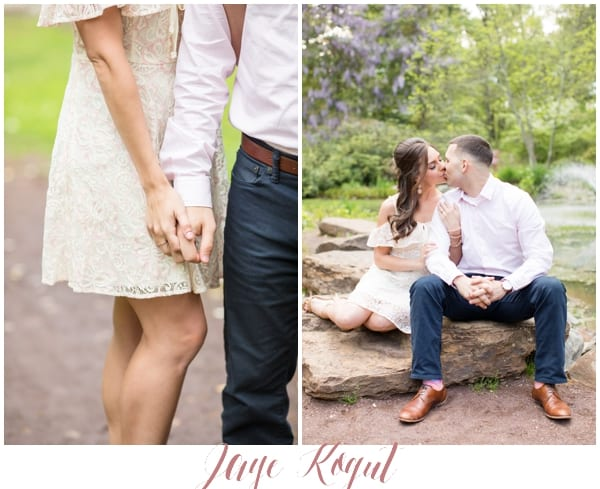 romantic engagement photos in new jersey