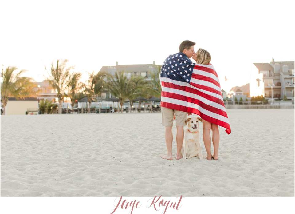 point pleasant beach engagement photos, dogs in engagement photos