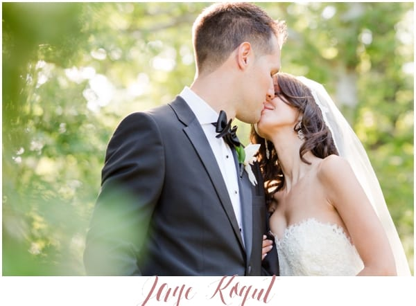 NJ Bride and groom kiss
