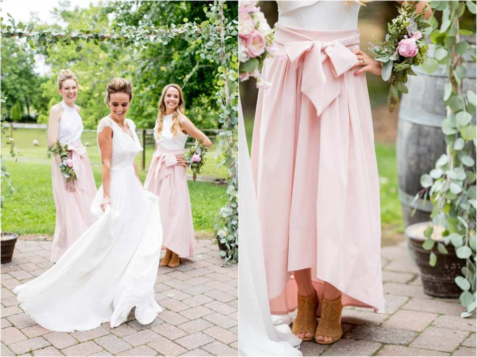 pink bridesmaid skirt ideas