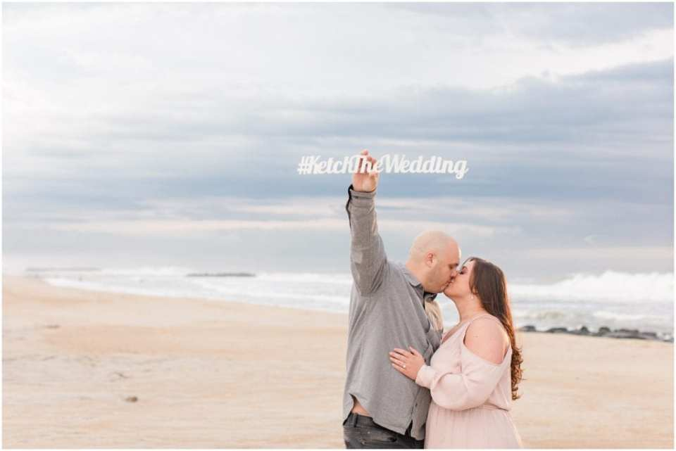 Spring Lake Beach Engagement Photos, dressy engagement photo outfits