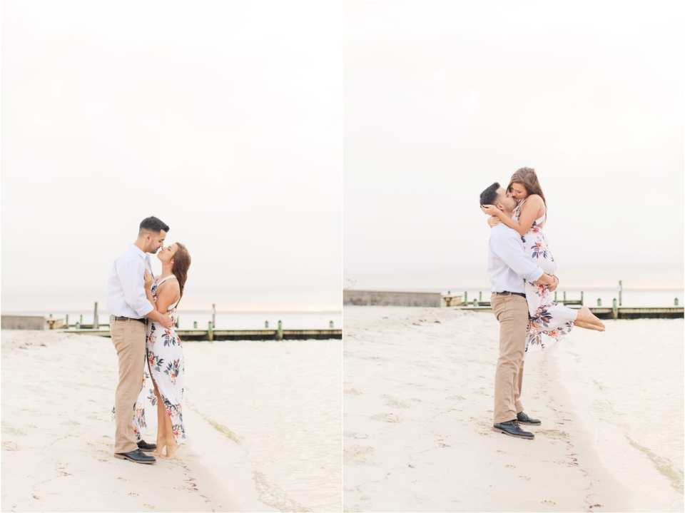 the notebook engagement photo recreation, jersey shore engagements