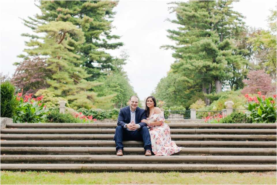 gardens in New Jersey, engagement photos at NJ botanical gardens