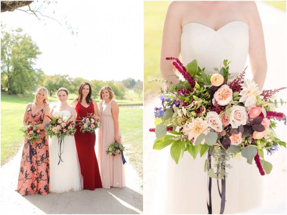 chester valley golf club wedding, jewel toned wedding colors